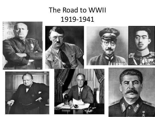 The Road to WWII 1919-1941