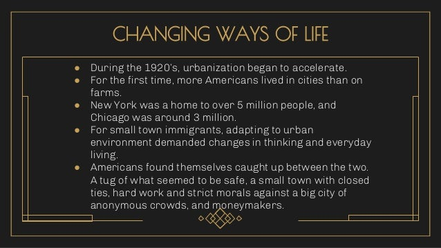 URBAN VS. RURAL ● More liberal, experienced, freedom to new ways, more modern lifestyle. ● Supported prohibition (drinking...