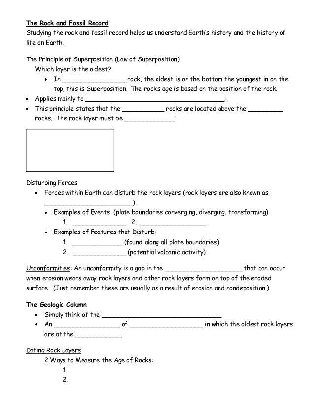 Collection of Fossil Record Worksheet Sharebrowse – Index Fossils Worksheet