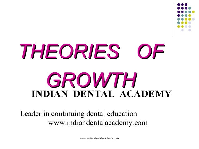 THEORIES OF GROWTH INDIAN DENTAL ACADEMY Leader in continuing dental education www.indiandentalacademy.com www.indiandenta...