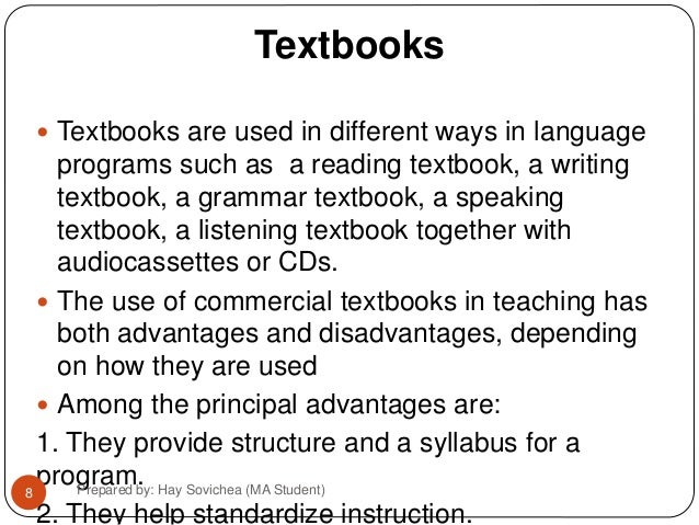 Importance Of Using Instructional Materials In Teaching 1 Manuals