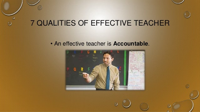 what is an effective teacher Thomas kane tackles the difficult question of how to define an effective teacher and argues that the better than the average novice is a threshold worth considering.