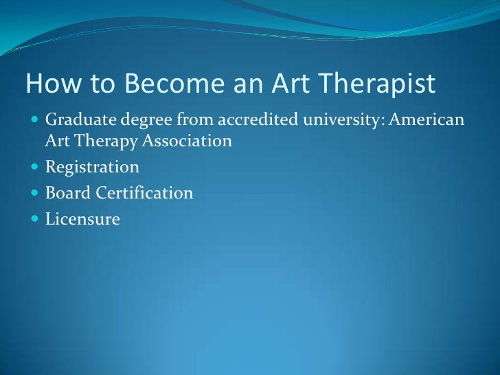 The Role Of Art Therapy In Healing