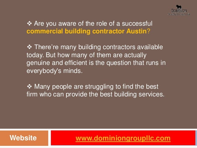 The role of a successful commercial building contractor austin