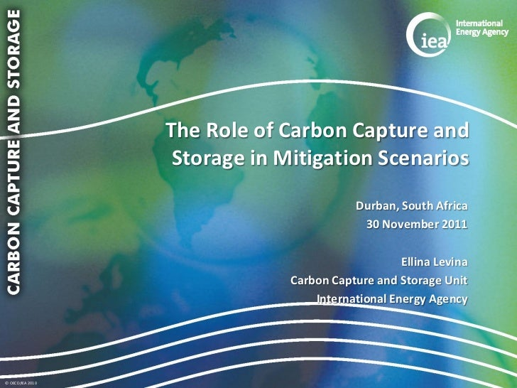 The Role of Carbon Capture and                   Storage in Mitigation Scenarios                                          ...