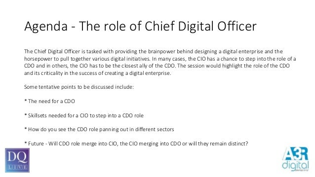 The role of chief digital officer - Chief marketing officer job description ...