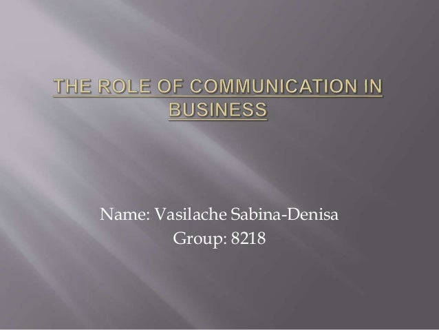 Name: Vasilache Sabina-Denisa Group: 8218