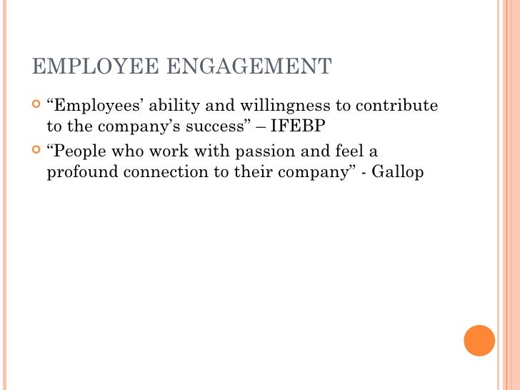 employee engagement as a core factor in company success Managers: a key factor in employee retention engagement by caela farren, phd, masteryworks, inc seasoned professionals want more than.