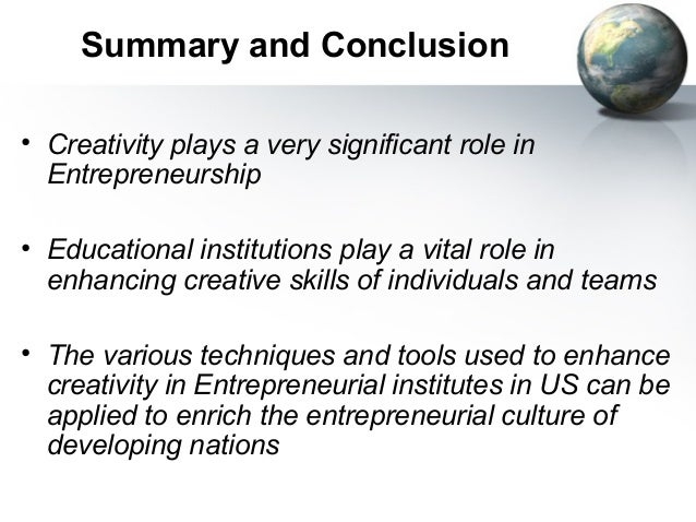 role of creativity in entrepreneurship and innovation The journal of innovation and entrepreneurship is a peer-reviewed open access journal published under the brand springeropen it presents current academic research and practical findings, investigating why some regions grow as others stagnate, and measuring effects and implications in the context of historical evolution and geographical location.