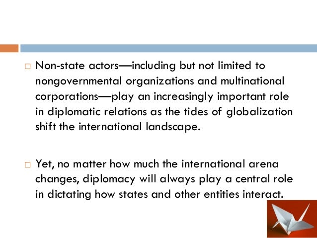 an introduction to the importance of diplomacy The importance to effective diplomacy of collaboration between  introduction of  the cable as marking the end of diplomacy – or at least the.