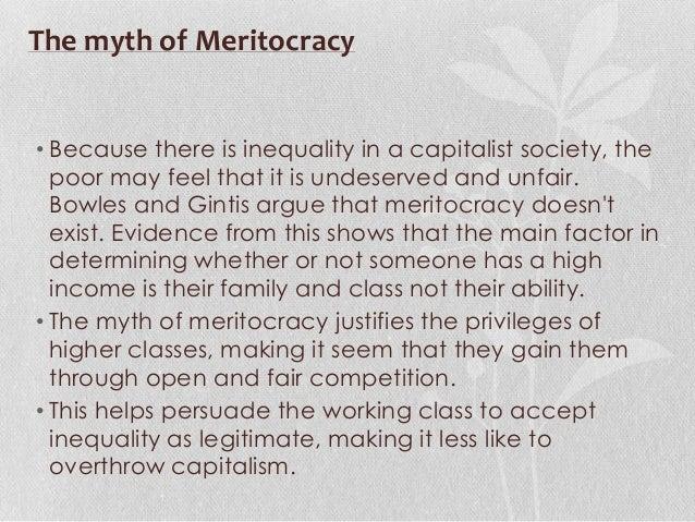 Myth of meritocracy
