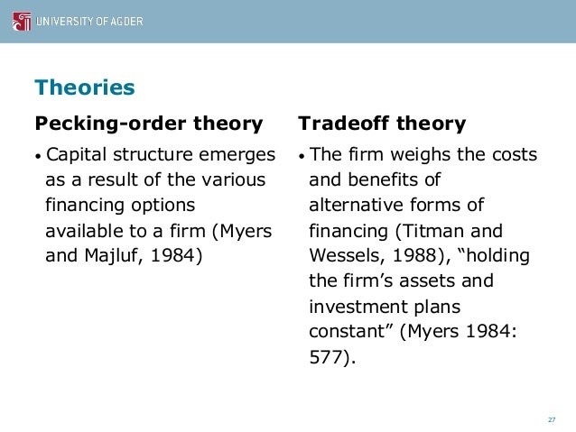 myers 1984 pecking order hypothesis