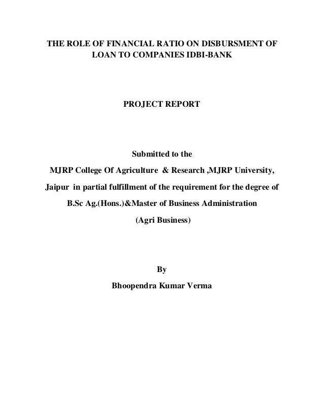 mba project on agriculture loan Sbi agriculture loan interest rates 2018 sbi  capital investment subsidy scheme for commercial production units of organic inputs under national project on.