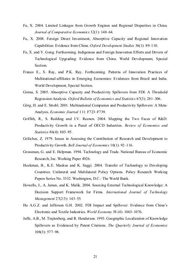 Research Paper Economic Development