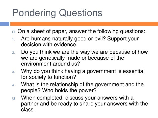 are people naturally good or evil essay