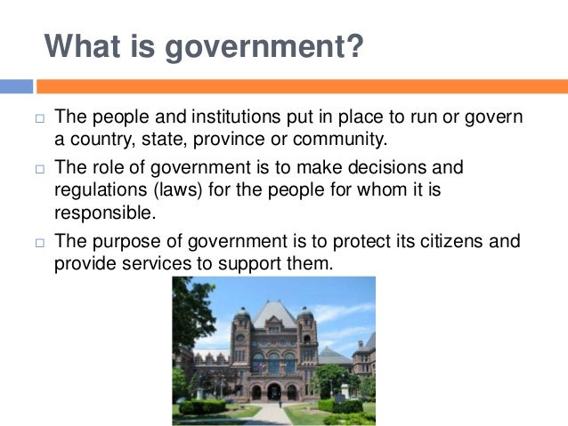 government and its role While you may not realize it, you are affected everyday by actions taken by the government learn about how the central government of the united.