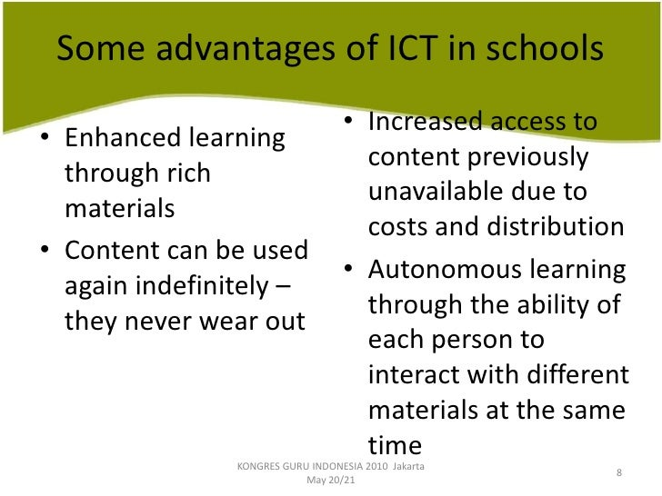 discuss the role of the ict Importance of ict in primary education march 31, 2015 by: sue jeffels  ict is a global phenomenon, and children who are computer literate at an early stage of their lives might deal better with the modern world a sound knowledge of ict makes it much easier for children to find and organize information an office for standards in.