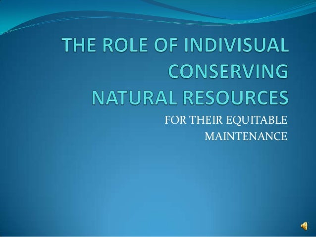 FOR THEIR EQUITABLE      MAINTENANCE