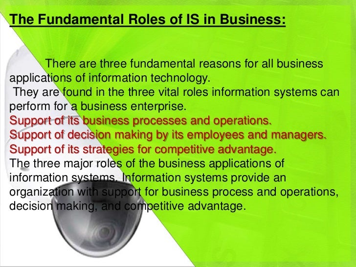 role of information systems essay Abstract: the following paper explains the importance of information systems in e -business and the limitations of information systems on the.