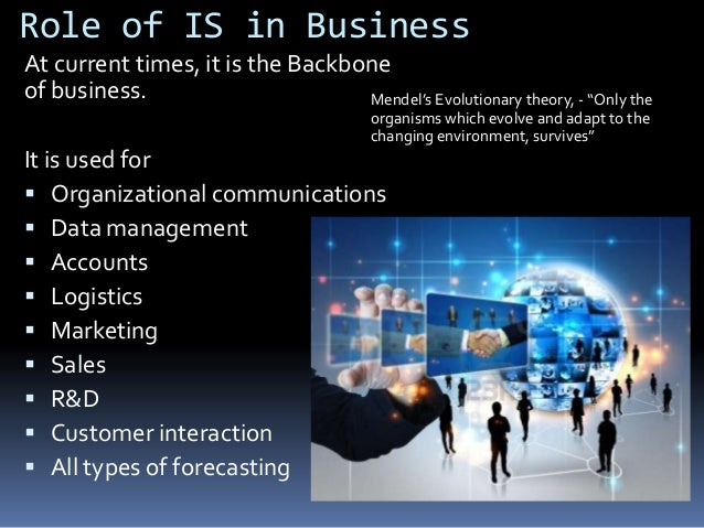 The role of information technologies & information system in business