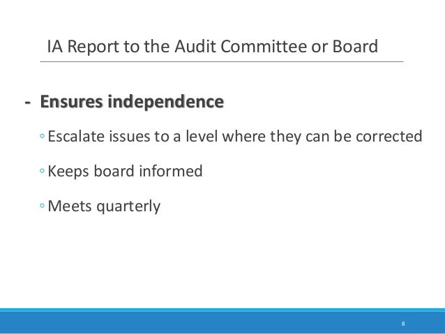"""the role of auditors in the What is the role of internal audit the institute of internal auditors (iia) defines internal auditing as: """"an independent, objective assurance and consulting."""
