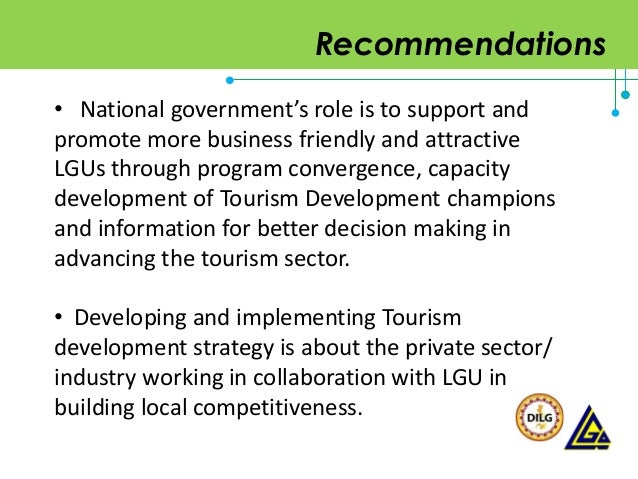 role of private sector in tourism development