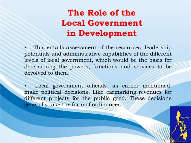 role of governance in local development Into traditional local government training the development of the 'gender in local government: gender in local government - a sourcebook fortrainers pdf.