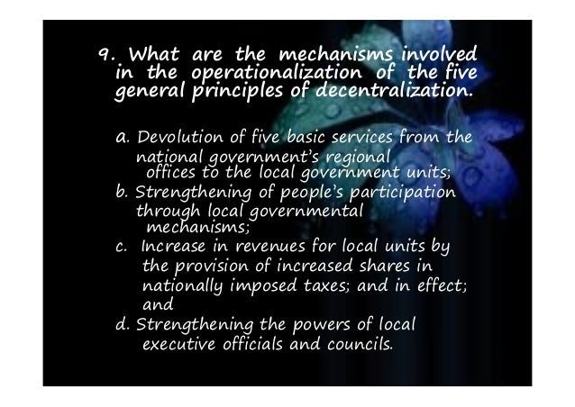 the role of local government units The local government code of the philippines book i general provisions title one - basic principles  local government unit or its conversion from one level to .