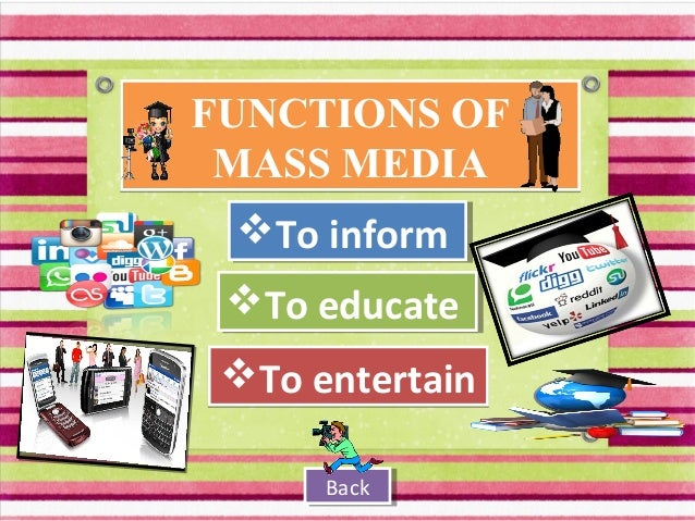 the role of mass media in gender roles Mass media projects gender stereotypes as models for the sexes to follow  girls  participating in feminine domestic practises (gender role), and deemed these.