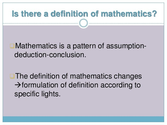 The Role of Mathematics In Human Daily Life Slide 2