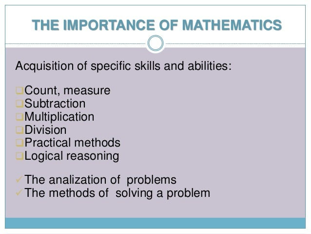 the role of mathematics Running head: envisioning the role of the teacher 1 envisioning the role of the mathematics teacher charles munter university of pittsburgh author note.
