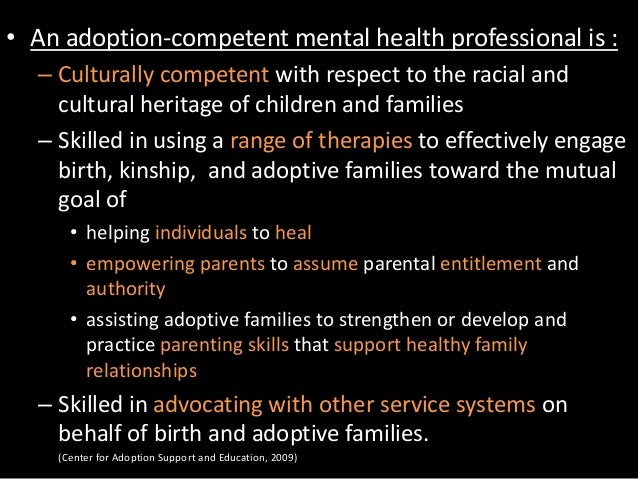 The Role Of Mental Health Professionals In Adoption