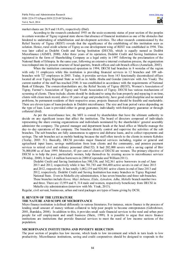 thesis on microfinance institutions Department of banking and finance center for microfinance the development of microfinance institutions in a multi-tier framework master thesis in banking and finance eren tosun advisor: annette krauss full text version cmf thesis series no 19 (2015) july 2015 center for microfinance thesis series.
