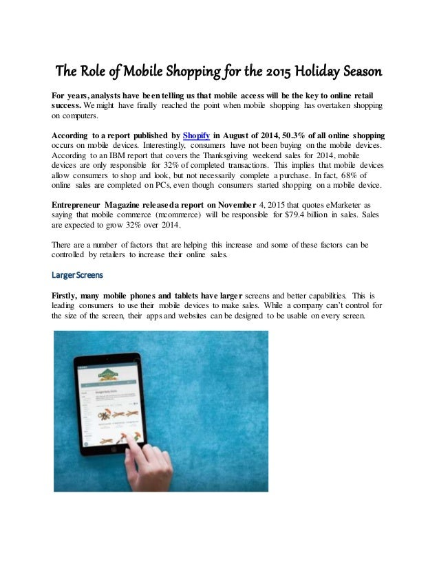 636c7196f0 The Role of Mobile Shopping for the 2015 Holiday Season For years, analysts  have been Responsive Web Design Websites ...