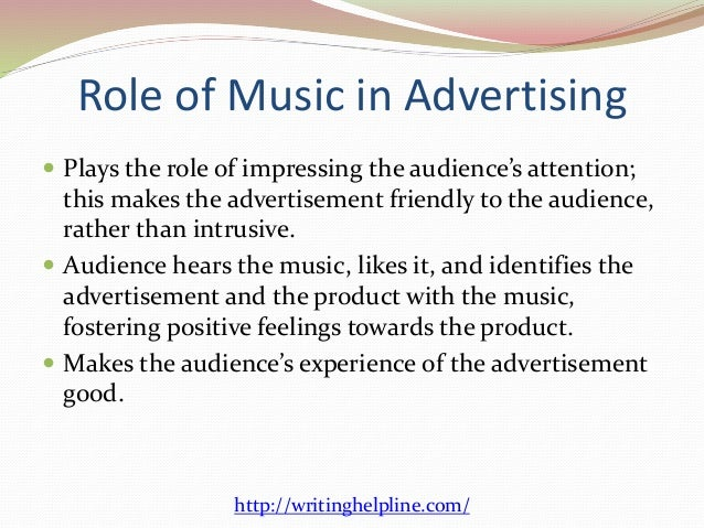 The role of music in advertising