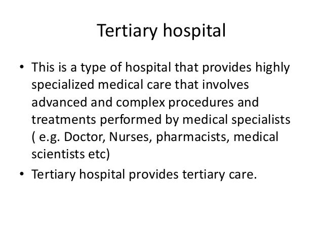 the role of nurses in tertiary hospital, Human Body