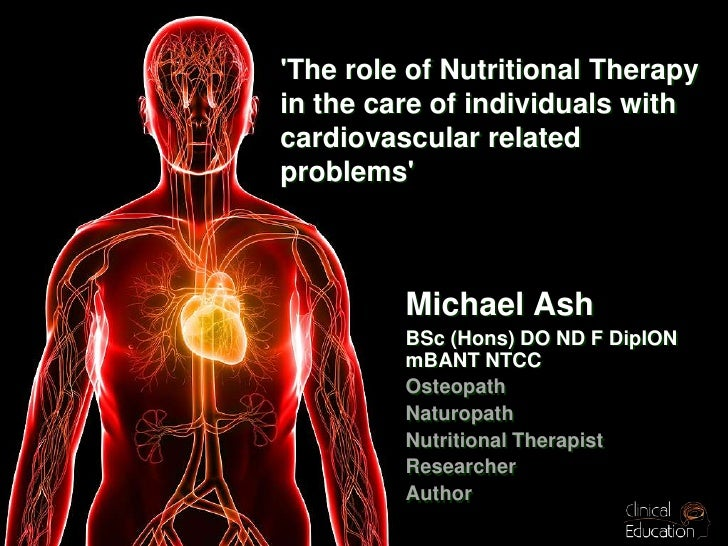 The Role Of Nutritional Therapies In The Care