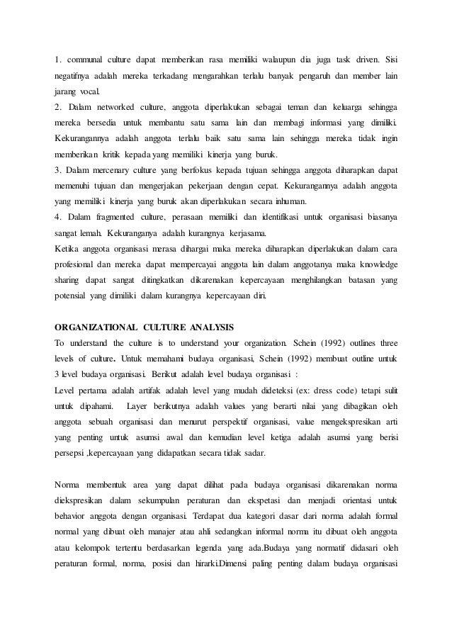 Resume bab the role of organizational culture dari buku kimiz dalkir  Slide 3