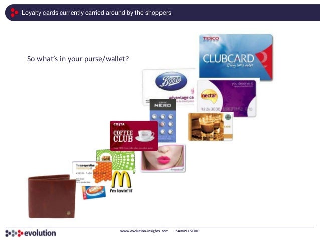Loyalty cards currently carried around by the shoppers  So what's in your purse/wallet?                                   ...