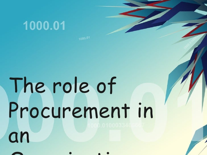 role of procurement manager pdf