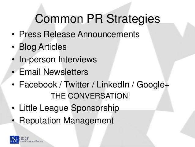Five Roles of Public Relations