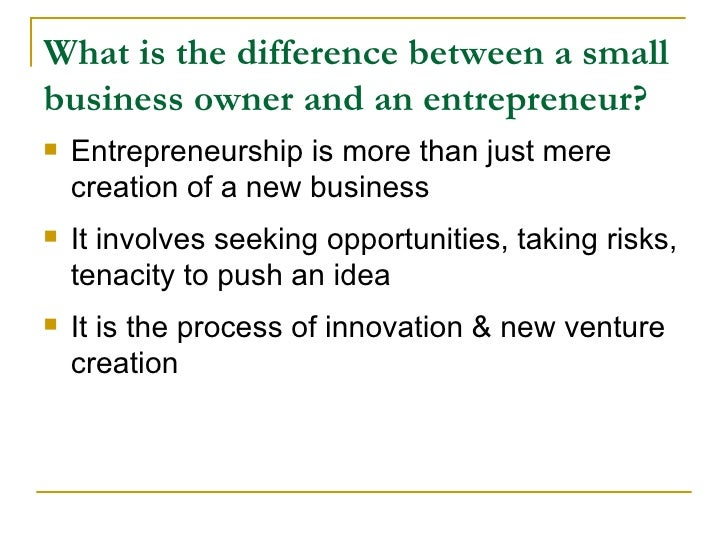 difference between small business and entrepreneurial venture pdf
