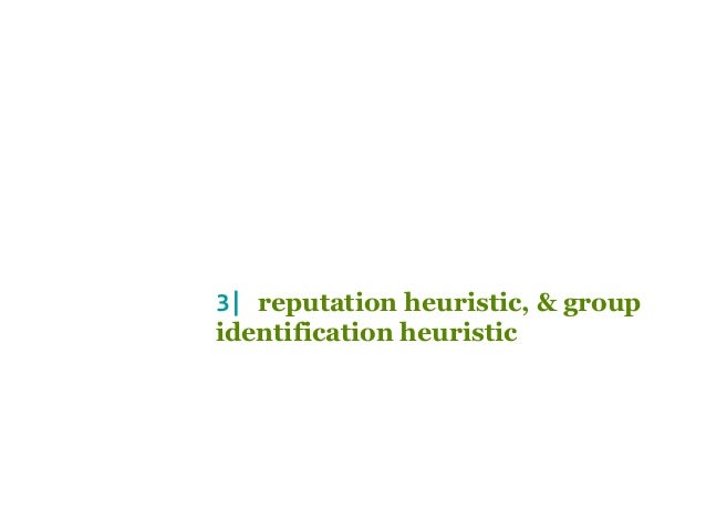 role of heuristics in social cognition Gender role heuristics used by adolescent boys when negotiating sexual practices of a heterosexual nature  31 social cognition 35.