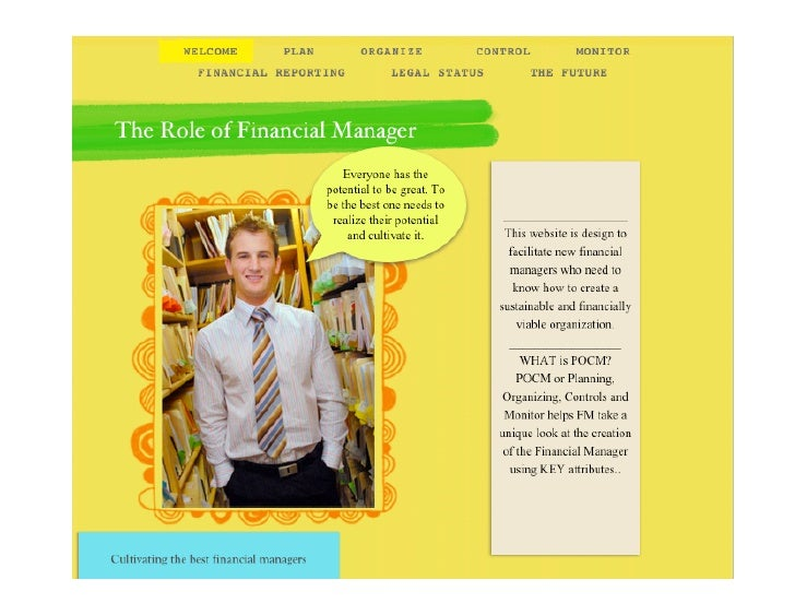 The Roleofthe Financial Manager