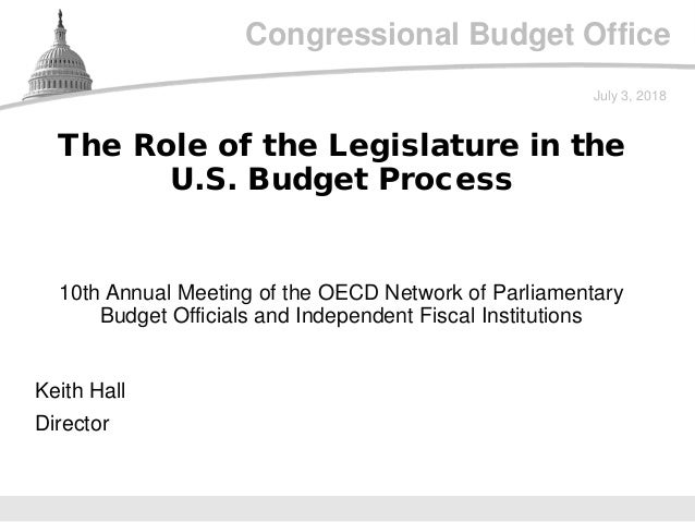Congressional Budget Office 10th Annual Meeting of the OECD Network of Parliamentary Budget Officials and Independent Fisc...