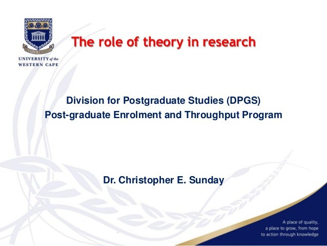 the role theory and neodissociative theory Theory is what you are researching if wouldn't be research if you knew exactly what you were doing - it would be engineering if wouldn't be a theory if you need research to figure it out - it would be manufacturing essentially, it is the scientists that develop a theory it is the researcher.