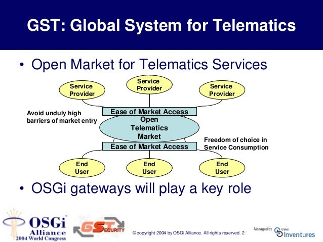 The role of the osgi gateway in gst security objectives for Control m architecture