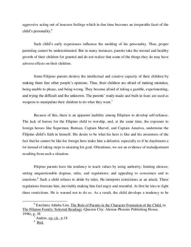 Research paper formation of values
