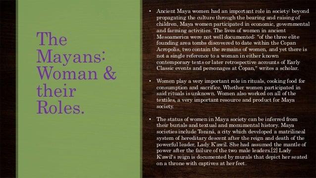 mayan gender roles