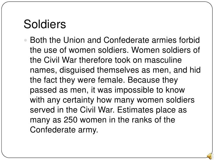 an analysis of womens role in the civil war Women's history web sites american women: to research and understand the impact of the civil war on women women who had different roles in and.